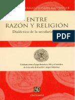 Habermas Jurgen y Ratzinger Entre Razon y Religion 1