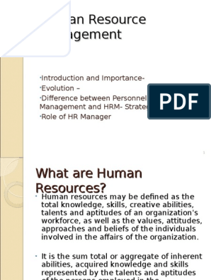 Introduction to HRM | Human Resource Management | Employment