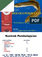 1. BIOLOGI PERIKANAN Kontrak Kuliah Dan Pengenalan Materi Biologi Perikanan