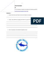 Conservation Worksheet