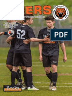 Wycombe Tigers  Cup Final Programme 01/05/2016