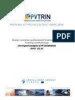 Pvtrin Good Examples of Pv Installations En