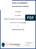 certificate of completion for bloodborne pathogen exposure prevention  full course