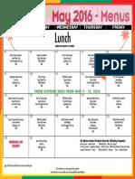 2016 may lunch menu eec