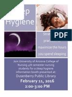 sleep hygiene flyer