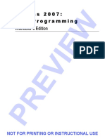 Access2007VBA Programming InstrutorsEdition
