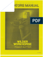 Wilder Slitter Manual All Models