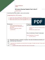8 lesson plan monday 13 mar