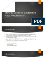 Module IV - Introduction to Exchange Rate Mechanism