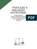 Introdução a Avaliação Nutricional