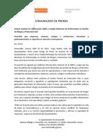 28-04-16 Firman Acuerdo de Colaboración UMPC y Colegio Mexicano de Profesionales en Gestión de Riesgos y Protección Civil. C-29116