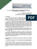 a contratacao integrada no regime diferenciado de contratacao Guilherme