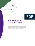 Règlement Épreuves de Langues Version-septembre-2013