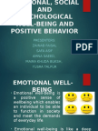 Emotional, Social and Psychological Well-being and Positive Behavior (2)