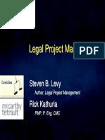 s Levy r Kathuria Legal Project Management