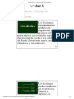 COAGULACION - FLOCULACION (FLOCULANTES)