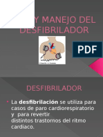 Uso y Manejo Del Desfibrilador