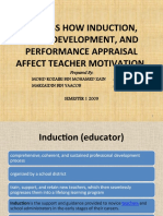 Discuss How Induction, Staff Development, And