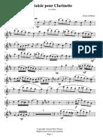 [Clarinet_Institute] Lefebure, Alain - Fantaisie for Clarinet and Strings.pdf