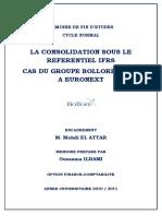 146495325 La Consolidation Sous Le Referentiel IFRS Cas Du GROUPE BOLLORE COTE a EURONEXT