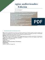 Tecnologías Audiovisuales Edicion