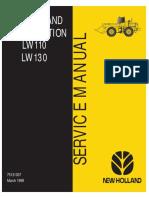 New Holland LW110 LW130 Loader Service Manual