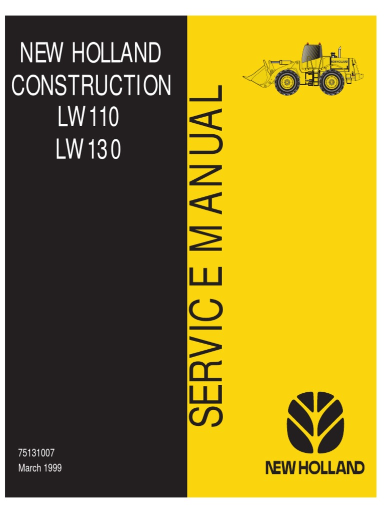 New Holland LW110 LW130 Loader Service Manual | Transmission