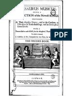 Thesaurus Musicus. 1694