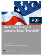 Unclaimed Money at Airports 2015