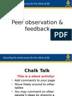 peer observation and feedback  2