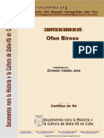 Ofun Iroso - Proyecto Orunmila'