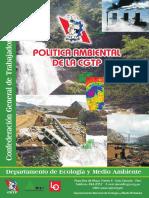 Documento de política ambiental de la CGTP