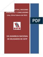 VIII Asamblea Nacional de Delegados de la CGTP