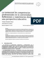 La Formación de Competencias Profesionales en La Universidad