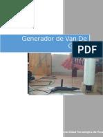 Informe de Van Der Graaff