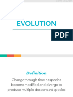 Evolution and Biodiversity