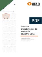 Fichas Procedimientos de Evaluación.