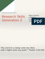 Research Skills 2016 CHEC