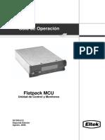236901773 Flatpack MCU Unidad de Control y Monitoreo 351300 013 1 Esp