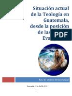 Ponencia Situacion Teologica Ecumenismo en Guatemala 2012
