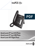 ENT PHONES IPTouch-4008-4018-4019Digital-OXOffice Manual 0907 PT