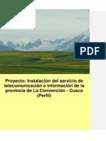 Perfil Telecomunicaciones La-Convención