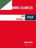 Mori Seiki Programming Examples CNC Lathe Moric-T6F,D6F(FM-FMORICT6F-A0E)