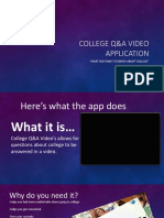college q a video application