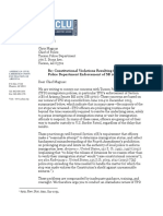 ACLU letter to TPD about SB 1070 enforcement