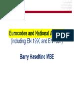 Lista de Eurocodes e National Annexes-Haseltine