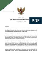 Pokok-Pokok Paket Kebijakan Stabilisasi Dan Pertumbuhan Ekonomi