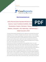 Active Pharmaceutical Ingredient Market