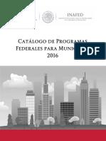 Catalogo de Programas Federales 2016 Marzo