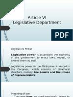 Article VI Legislative Dept.pptx